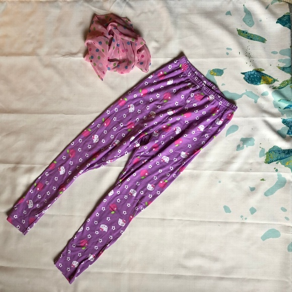 8b32dfc4d Hello Kitty Bottoms | Purple Stretch Pantsleggings | Poshmark